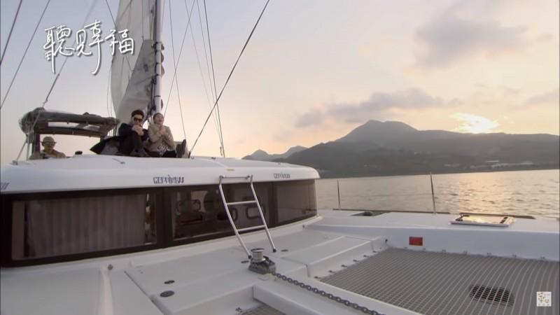 張志傑的遊艇「HAPPINESS大幸福號」曾出現在偶像劇「聽見幸福」中。(記者黃捷翻攝)