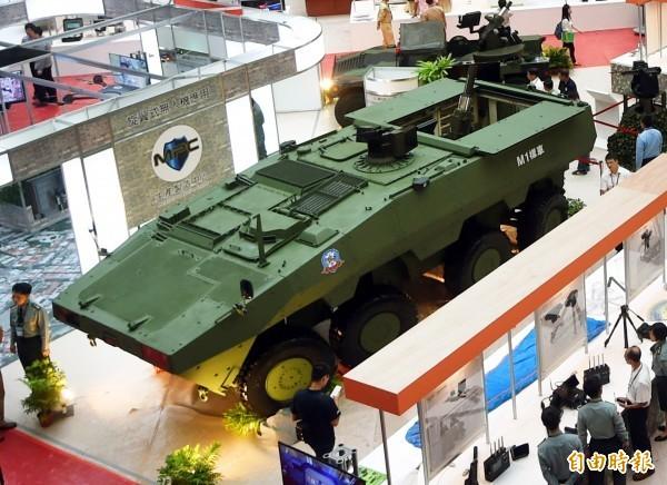 圖為新型雲豹甲車。(資料照)