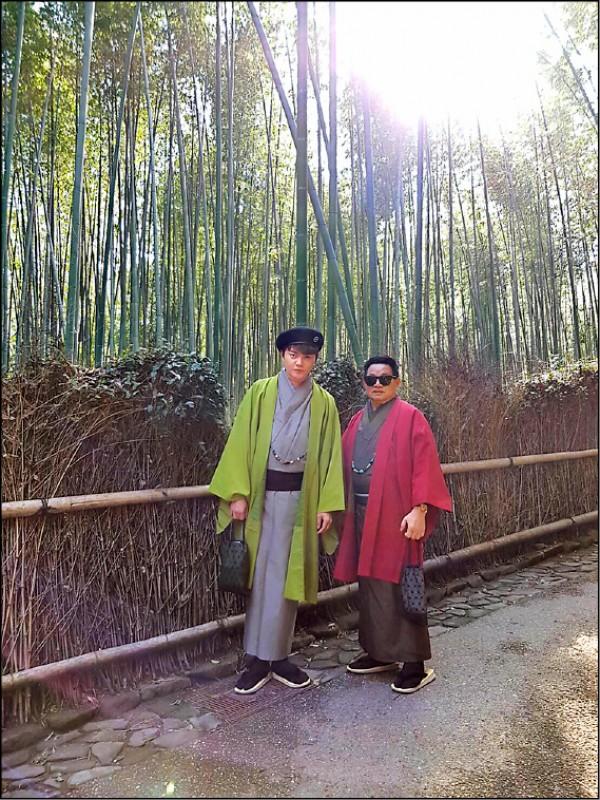 京都嵐山的竹林之道是許富凱推薦可以優閒散步的地點。(圖片提供/時代創藝)