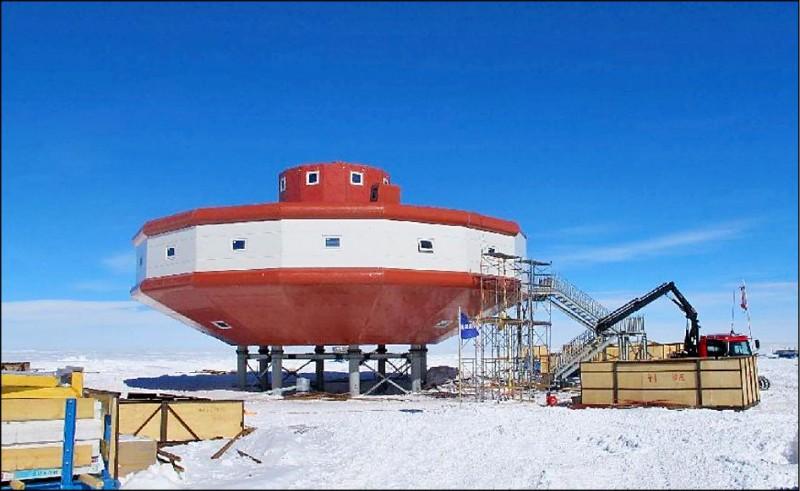 中國在南極洲建立的第四個科學考察站「泰山站」。(取自網路)
