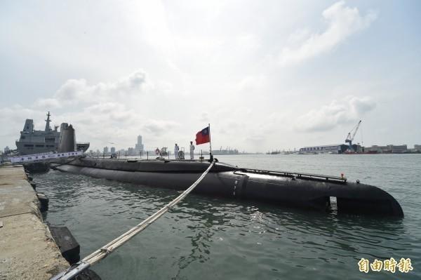 總統蔡英文宣布,國造潛艦2025年正式成軍。圖為我國現役的茄比級潛艦,是世界上最老的現役潛艦。(資料照)