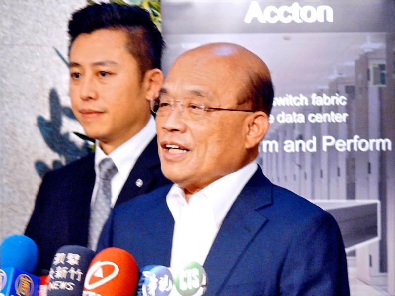 行政院長蘇貞昌昨痛批邵子平,既要當中國國民,還想享受台灣健保,「門都沒有!」(中央社)