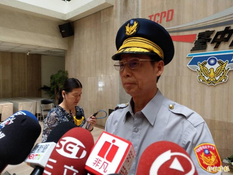 中市警局副局長邱銘光強調,遊行合憲合法,警察核可並無叛國疑慮。(記者張瑞楨攝)
