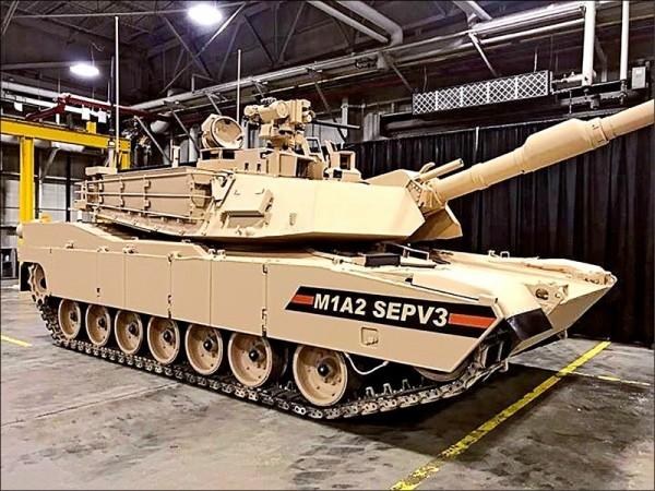 圖為美國M1A2 SEPV3戰車,我國採購的則是小改款的M1A2X型戰車。(取自美國陸軍網站)