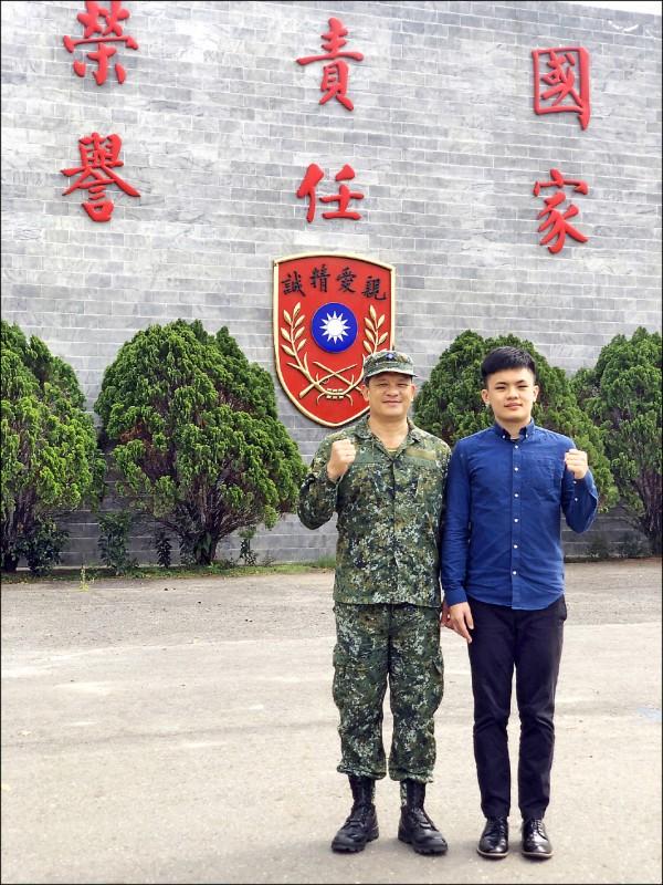 清華大學與國防部今年首推「將星計畫」,獨招錄取十人。圖為雄中學生蕭宇辰。(照片由清大提供)