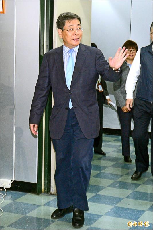上海市台辦主任李文輝昨拜會台北市長柯文哲,雙方密會約半小時商討。(記者王藝菘攝)