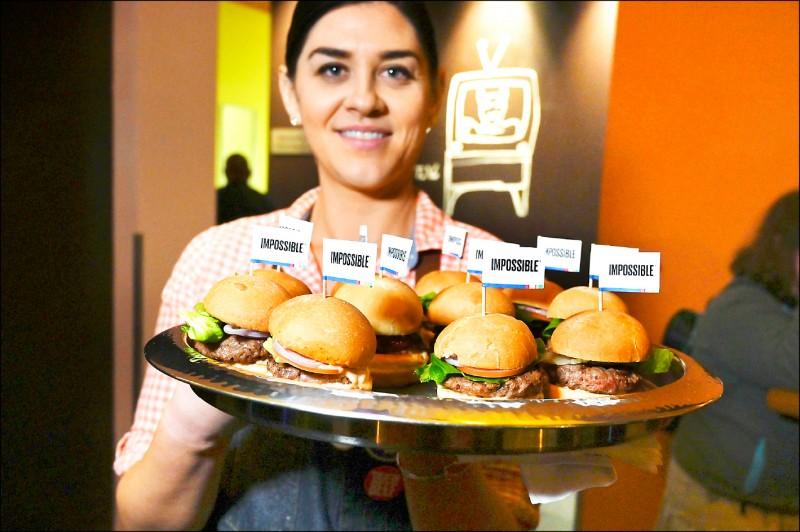 漢堡為高膽固醇食物。(法新社檔案照)