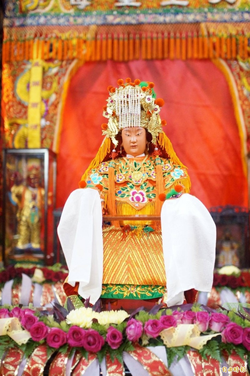 白沙屯媽祖回鑾,完成一年一度回娘家壯舉。(記者廖淑玲攝)