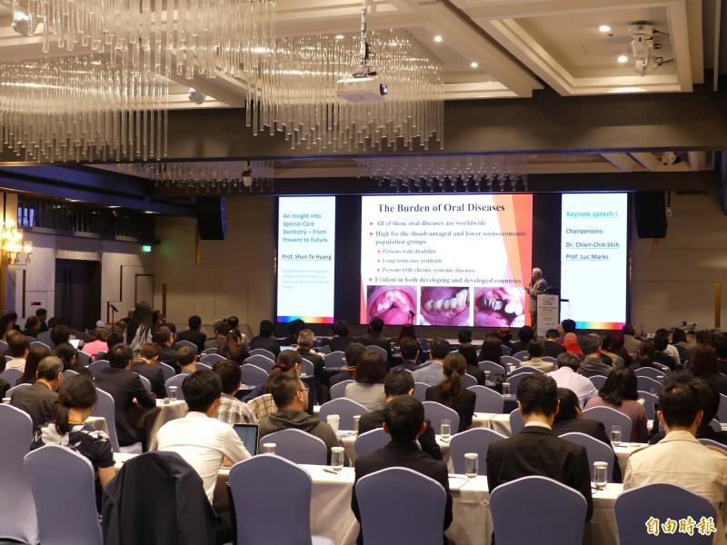 WHO與19國口腔醫學專家來台,召開亞洲特殊需求者口腔醫學國際學術研討會。(記者黃旭磊攝)
