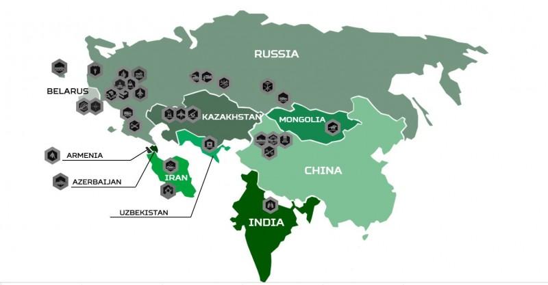 俄羅斯主辦「國際軍事比賽(Armygames)」,中國地圖竟沒有台灣。(圖擷自Armygames網站)