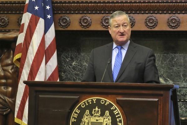 美國費城市長肯尼批評,川普的「庇護城市」政策恰好展現了他對基本人權的蔑視。(美聯社)