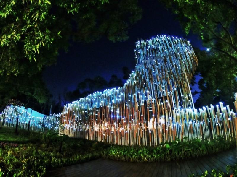 花博后里森林園區的森隆活虎館。(台中市政府提供)