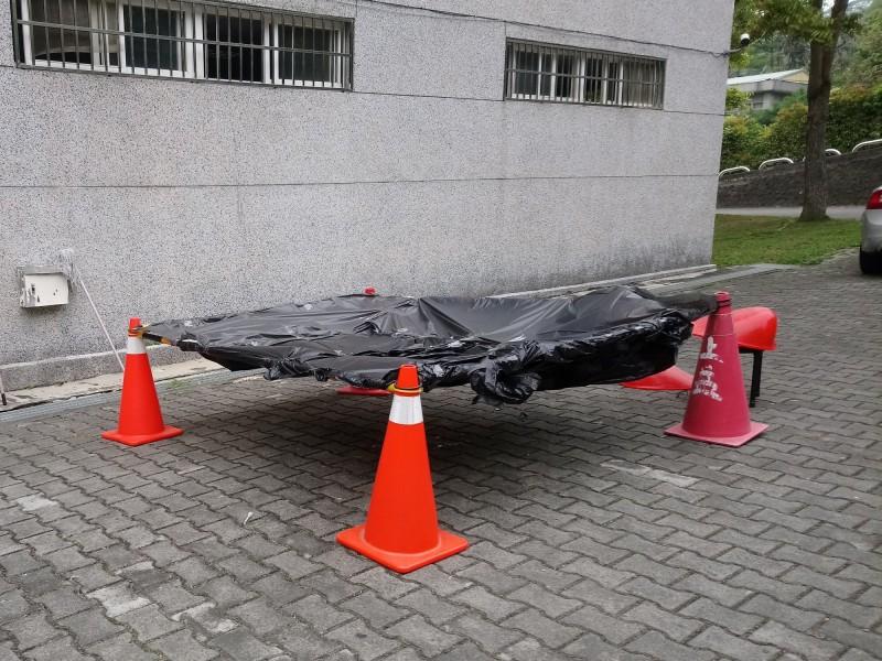 嘉義縣某國中發生學生墜樓事故。(民眾提供)