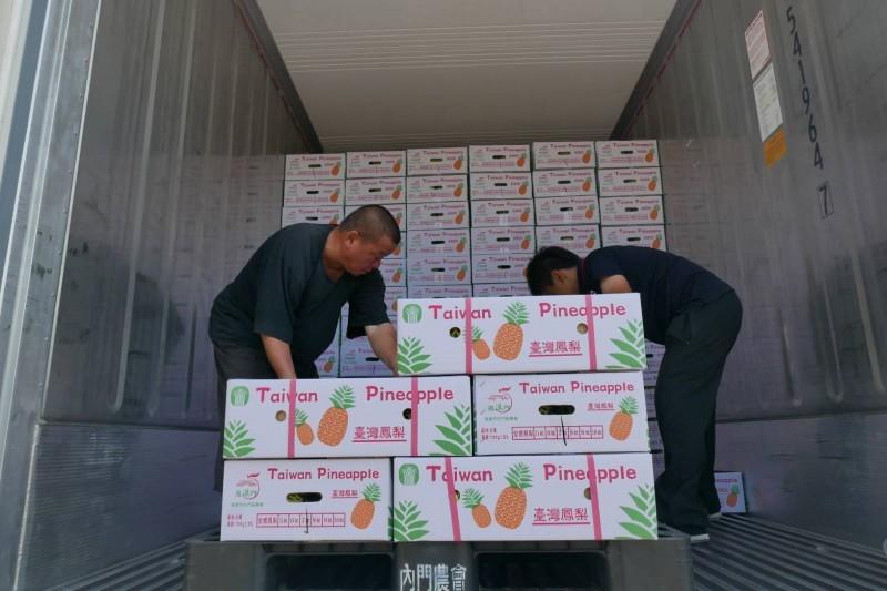 高雄鳳梨今年新加坡銷量刷新去年全國總量。(記者陳文嬋翻攝)