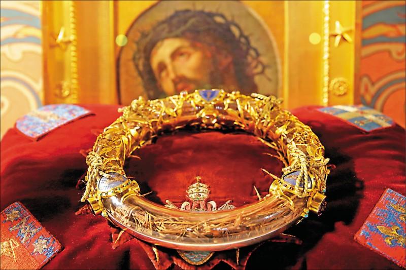 耶穌受難時所戴「荊棘冠冕」成功搶救。(路透檔案照)