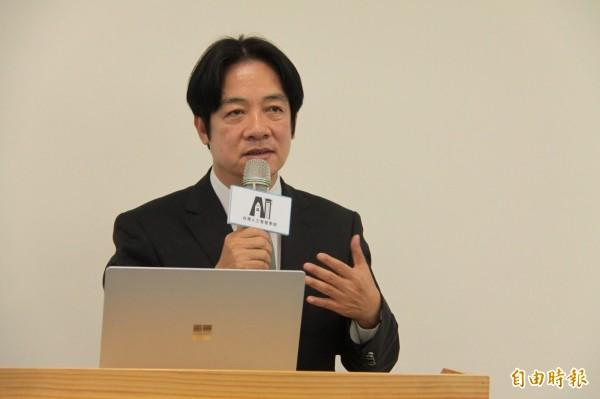 賴辦發言人林聖哲對郭台銘表態參選表示,只要對台灣有期待的願意出來競選,賴清德(見圖)都樂觀其成。(本報資料照)