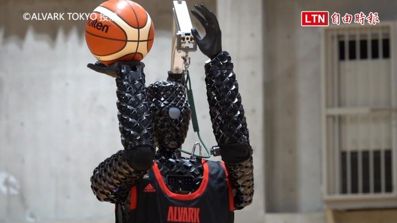 豐田汽車開發的AI投籃機器人CUE3。(圖片由©ALVARK TOKYO授權)