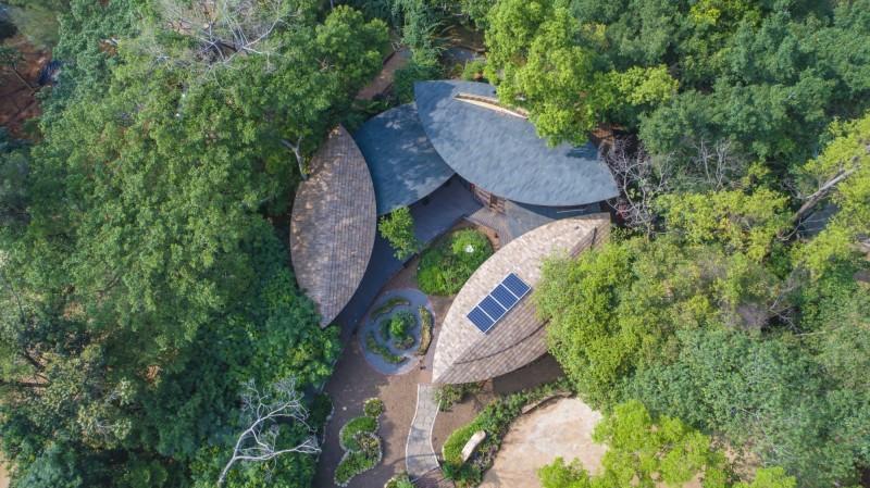 台中花博將於24日閉幕,圖為后里森林園區的「四口之家」。(台中市政府提供)
