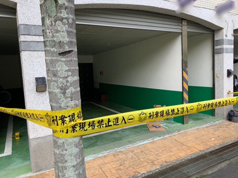 新北市中和區一家汽車旅館傳雙屍命案。(記者徐聖倫攝)