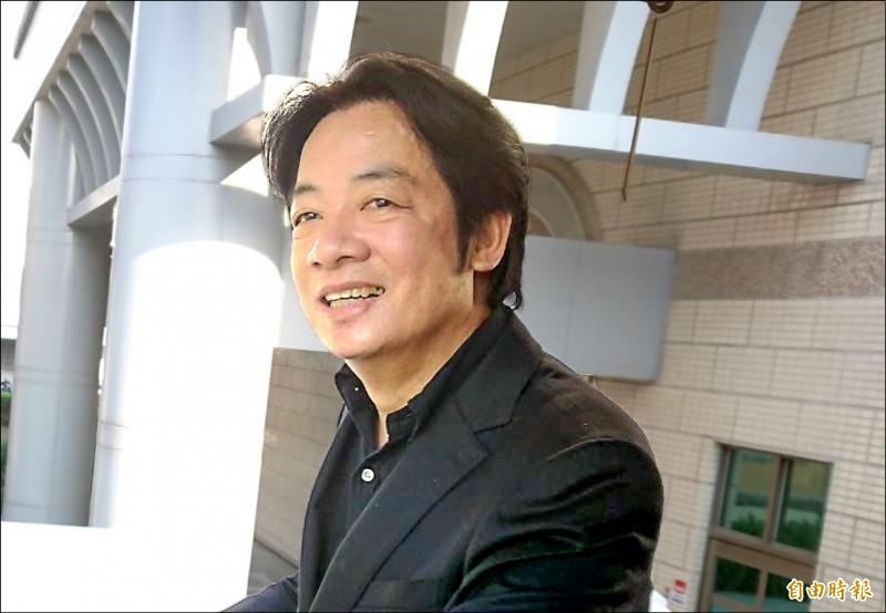 鴻海董事長郭台銘參加國民黨初選,前行政院長賴清德昨表示,樂見想要為國家服務的人挺身參選。(記者洪瑞琴攝)