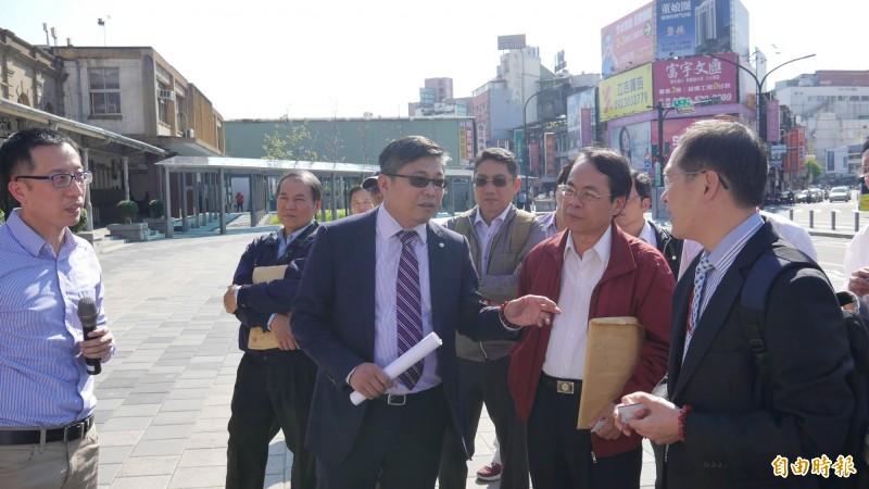 台鐵局對新竹市府推動大車站計劃表示支持,將配合推動,共創共榮。(記者洪美秀攝)