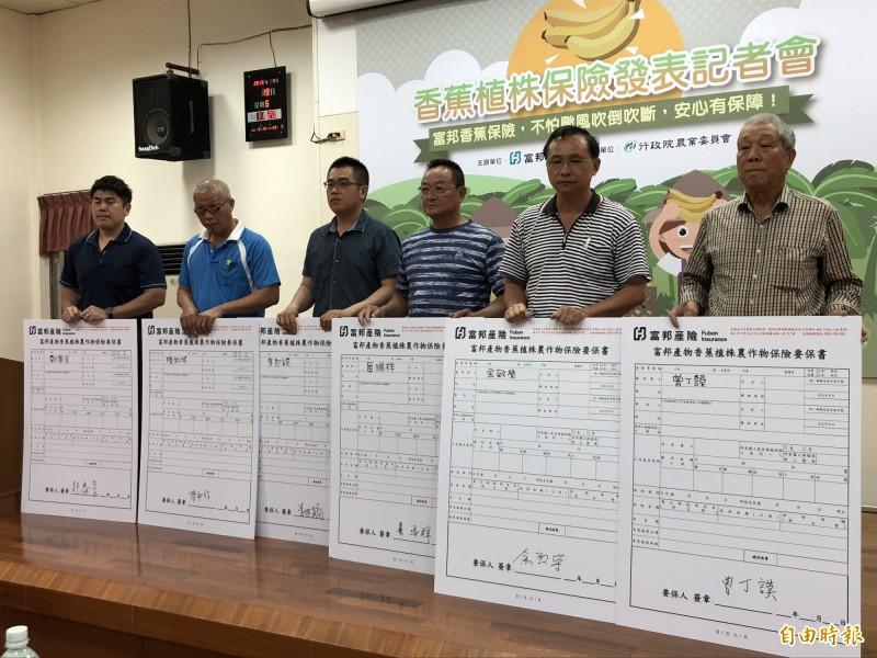 屏東縣已有16名蕉農買香蕉保險。(記者羅欣貞攝)