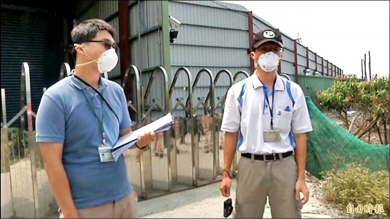 枋寮鄉樂樂養雞場曾因飄散臭味遭稽查,但卻不開門將農業處人員擋在雞場外。(資料照,記者陳彥廷攝)