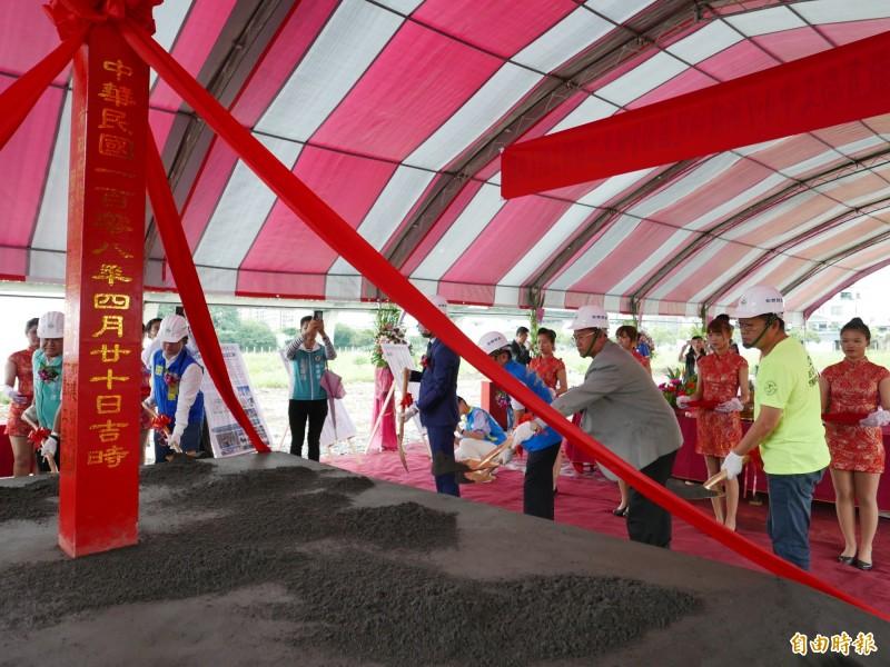 爭取公幼5年 北屯最大非營利幼兒園今天終於開工