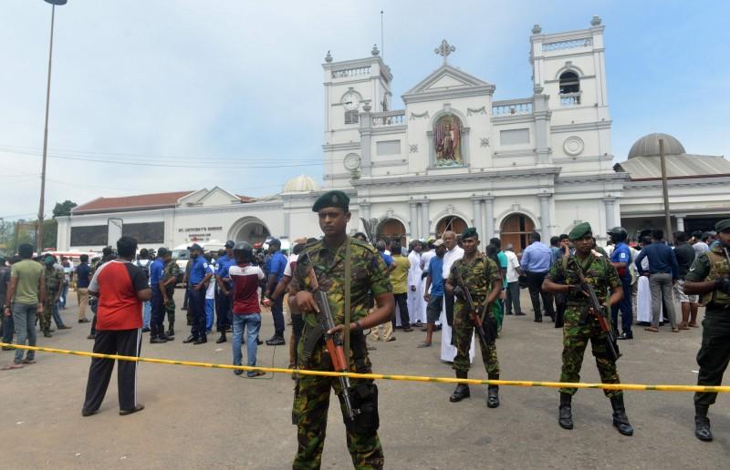 斯里蘭卡多處教堂和飯店接連爆炸,目前傳出至少160人死亡、數百人受傷。(法新社)