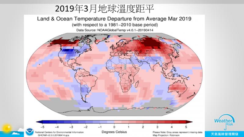 賈新興今上午在臉書分享,指NOAA公布3月全球均溫,比長期平均高出了1.06℃,僅次於2016年1.24℃,是140年來第二暖的3月天。(圖擷自臉書)