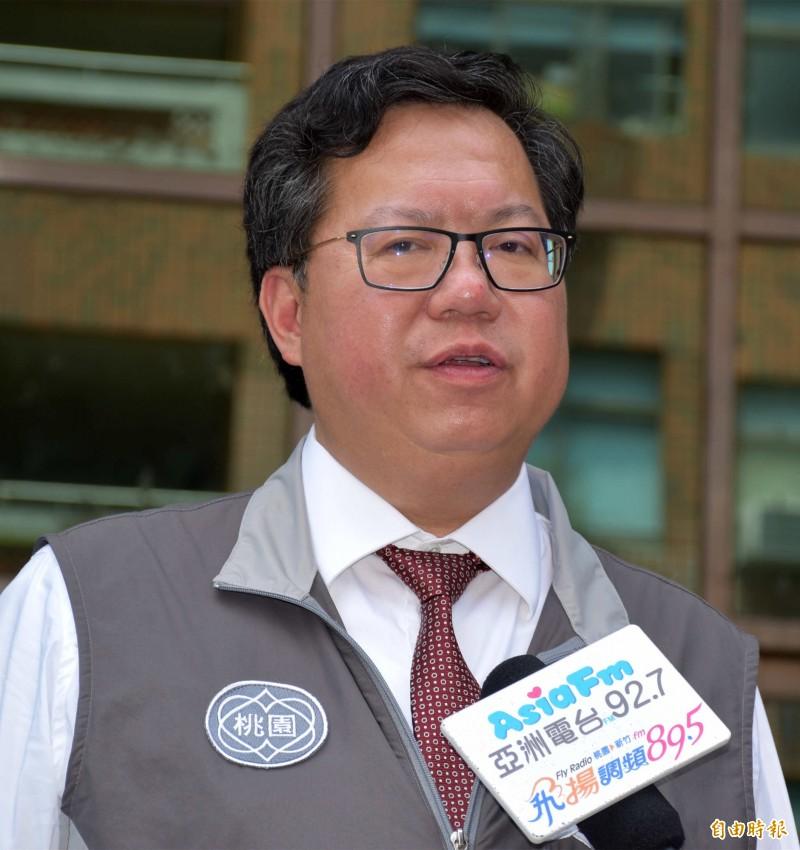 鄭文燦認為現階段,民進黨最重要的是蔡賴合,不是蔡柯配。(記者李容萍攝)