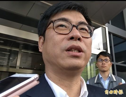 陳其邁認為韓國瑜想選總統,就要跟大家講清楚。(記者洪定宏攝)