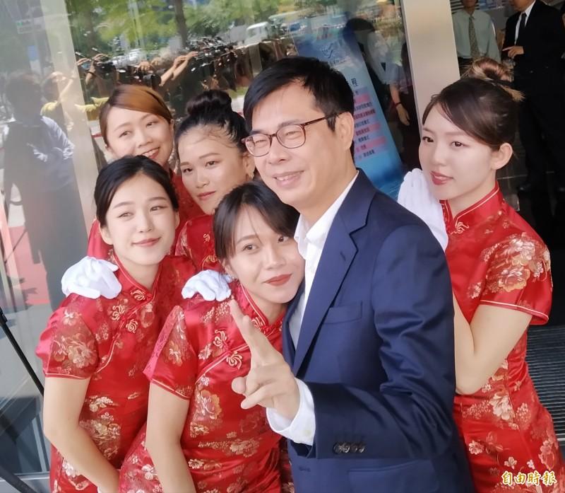陳其邁推崇蔡英文跟賴清德都是非常有智慧的政治家,期待民進黨初選有好的結果。。(記者洪定宏攝)
