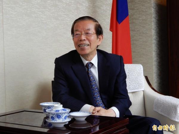 謝長廷指出,他駐日代表台灣而不是政黨,任何黨派的縣市首長來訪都很歡迎,也會服務。(資料照,記者林翠儀攝)