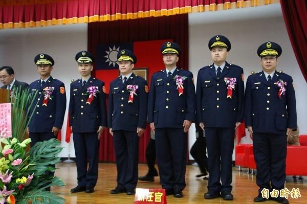 最新一波高階警官人事,嘉義縣警局6位分局長5個異動。圖為去年6位分局長上任。(資料照)
