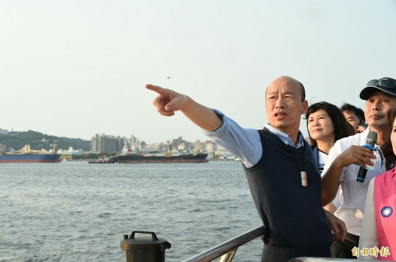 名嘴陳揮文日前在政論節目上表示,高雄市長韓國瑜(見圖)已把「市長能做的事情都做完了」,支持韓參選總統,引發網友熱議。(資料照)