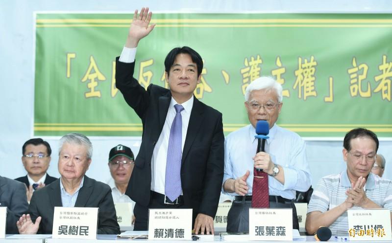 賴清德於臉書指出,「一國兩制」就是「一個中國原則」、就是統一、就是併吞台灣! (記者廖振輝攝)