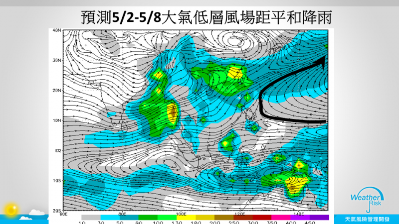 針對今年首波梅雨何時報到,天氣風險管理公司總監賈新興指出,在最新預報中,梅雨的預測有變化了,預估5月2月開始形成梅雨的環境比5月下旬更佳。(圖擷自賈新興臉書)