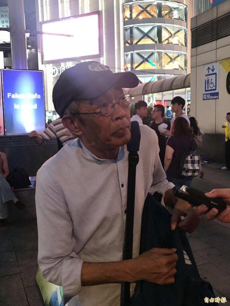 香港銅鑼灣書店前店長林榮基昨飛抵台灣,盼能在台定居、延續書店事業。(記者彭琬馨攝)