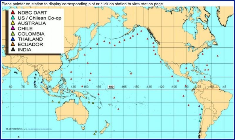 氣象局的海嘯浮標預警系統建置完成後,將成為NDBC觀測網的一員。(擷取自NDBC網頁)