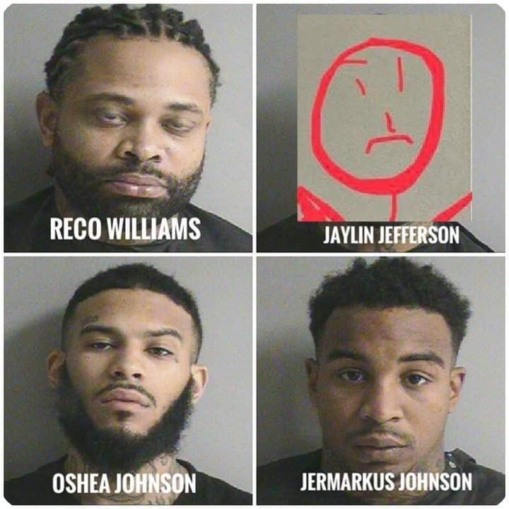 嫌犯檔案照被網友惡搞,掉入柱子的竊賊換成警方示意圖裡的簡單畫像。(圖擷自Wharton Police Department臉書)