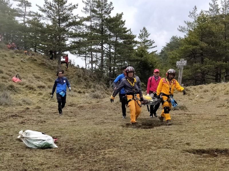 花蓮24日迄今,連續3天已發生4起山域搜救事件。(記者王峻祺翻攝)