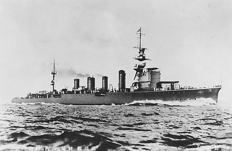 日軍輕巡洋艦「神通號」沉沒殘骸找到了,其事蹟被美軍評為「整個太平洋戰爭中作戰最勇猛的日本軍艦」。(圖擷自wiki)