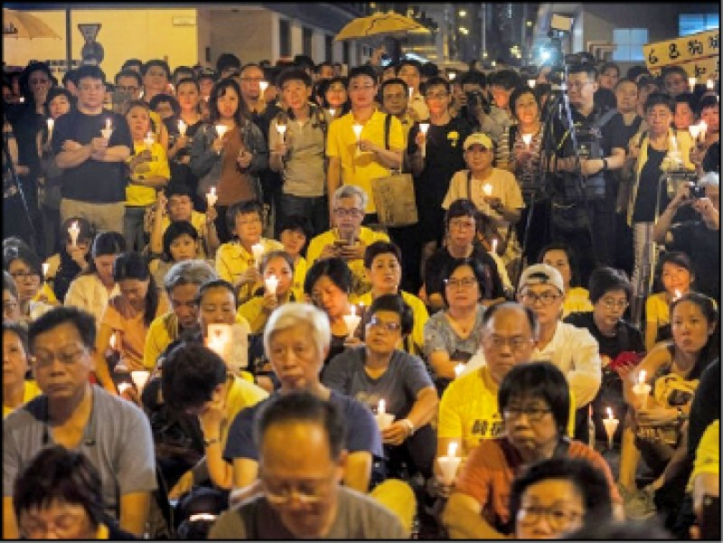 香港今將舉行「反逃犯條例」遊行,昨有33名台灣法輪功學員欲參加該遊行,卻遭強制遣返。(資料照,彭博)