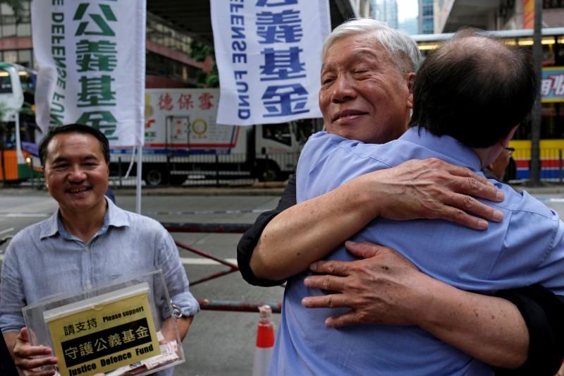 「佔中三子」之一朱耀明參與「反送中」遊行。他說,《逃犯條例》對社會各界都有影響,因失去表達等自由,對整個社會都有影響。(路透)