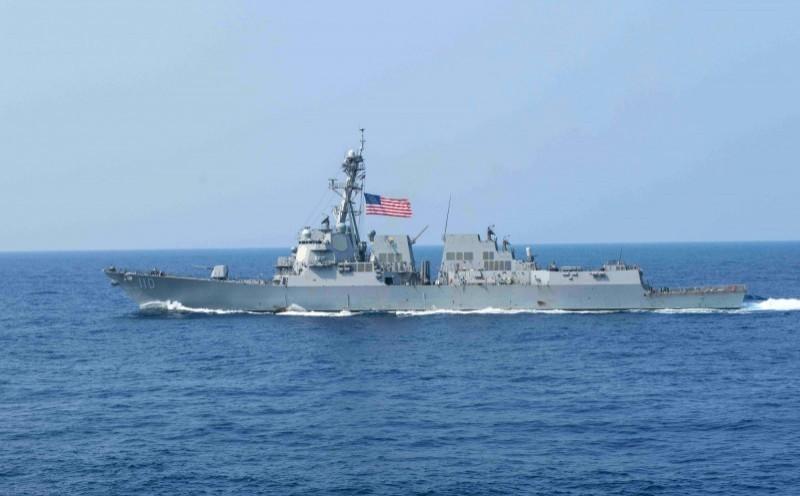 美國勞倫斯號(William P. Lawrence)驅逐艦。(法新社)