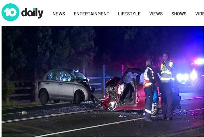 澳洲雪梨(28)日凌晨發生一起因「自拍」出事的交通意外,造成1名21歲的駕駛死亡。(圖取自10daily)