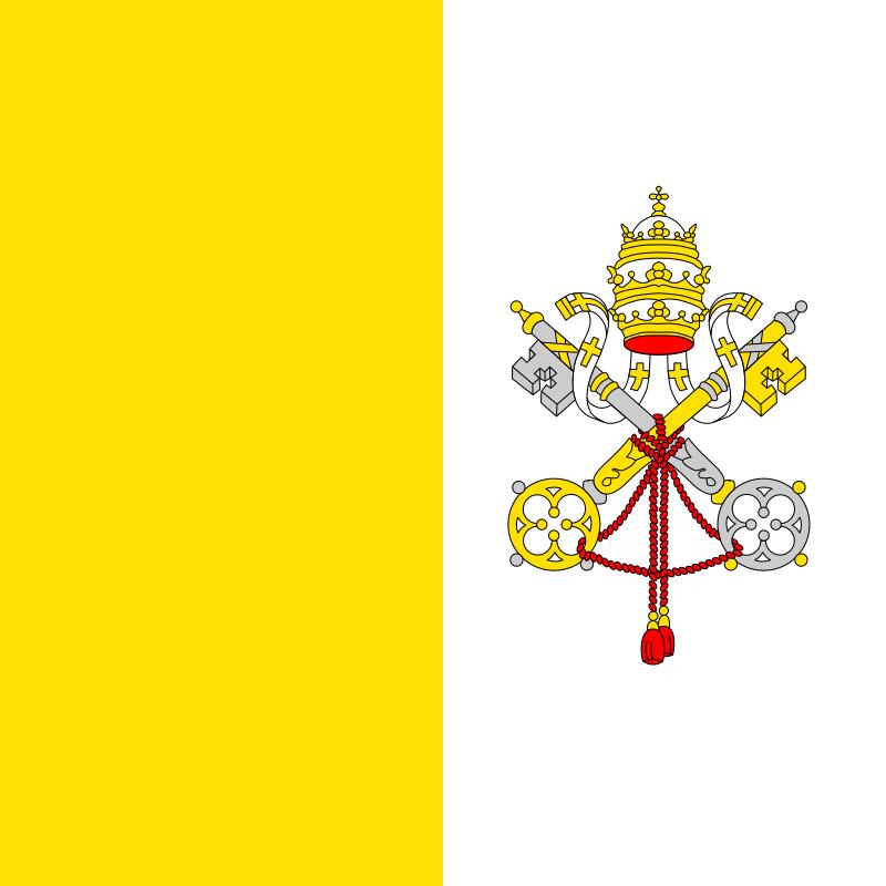 梵蒂岡國旗飄中國北京惹關注。(圖擷取自網路維基百科)