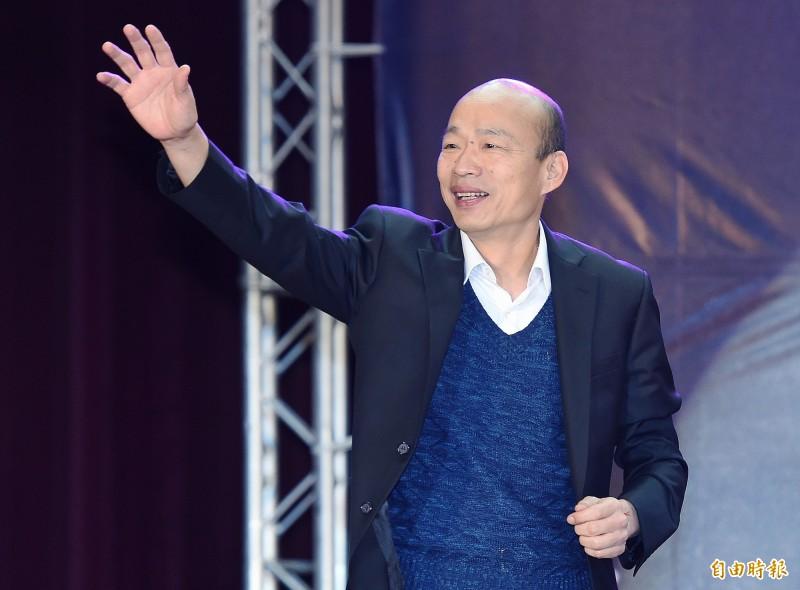 韓國瑜在世新大學說,自己18歲時只有500元,現在還是只有500元,引發網友一片嘲諷。(記者廖振輝攝)