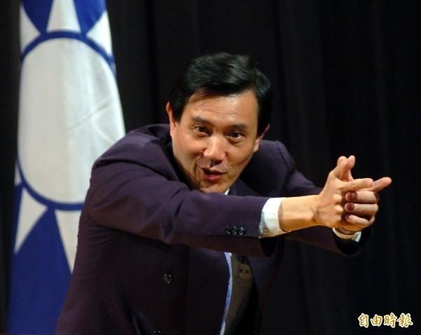 馬英九(見圖)認為蔡政府的能源政策阻礙經濟發展,反而引來廣大網友砲轟。(資料照)